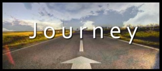 """Banner with the image of a highway and the word: """"Journey"""" for the study of the Book of Matthew."""