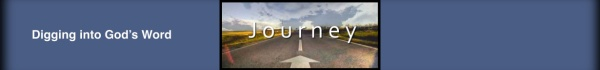 "Blog banner with the image of a highway and the word: ""Journey"" for the study of the Book of Matthew."